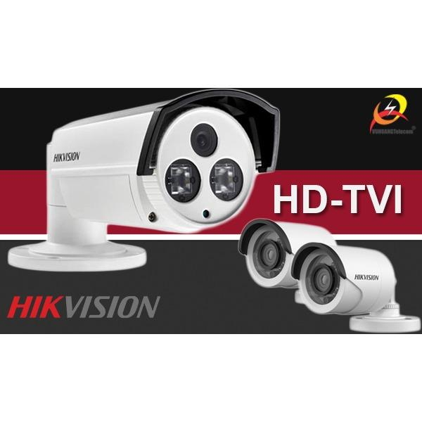 Trọn bộ 4 camera Hikvision HD-TVI gồm