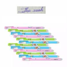 Bộ 12 cây bút bi xóa được thần kỳ Đô-rê-mon (Mực màu xanh)