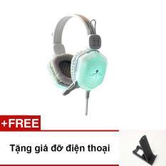 Tai nghe chơi game Qinlian A7 Led (trắng – tặng giá đỡ điện thoại)