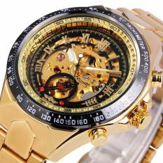 Đồng hồ nam Winner TM432 cơ lộ máy đính đá dây thép không gỉ