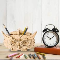 Đồ chơi lắp ráp gỗ 3D Mô hình Hộp Đựng bút Hình Con Cú
