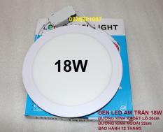 Đèn led âm trần tròn 18w ánh sáng trắng