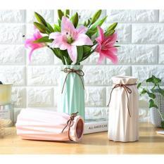 Bình hoa gốm sứ cắm hoa lụa / hoa giả độc đáo style Vintage XJ119