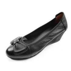 Giày Cao Gót Đế Xuồng Cao 5cm Da Bò Thật Mềm Mại Đẹp Sang Trọng Quý Phái (Đen) Evelynv 5P05LG