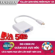 Cáp chuyển Micro HDMI sang VGA (Trắng)