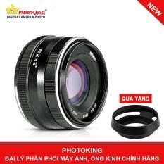 Ống kính Meike 50mm F/2.0 MF Lens (Sony E mount) – Tặng kèm Hood kim loại dáng Leica