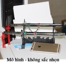 mô hình trang trí phong thủy song kiếm không sắc nhọn