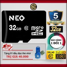 Thẻ nhớ 32GB NEO micro SDHC – Tặng đầu đọc micro PT
