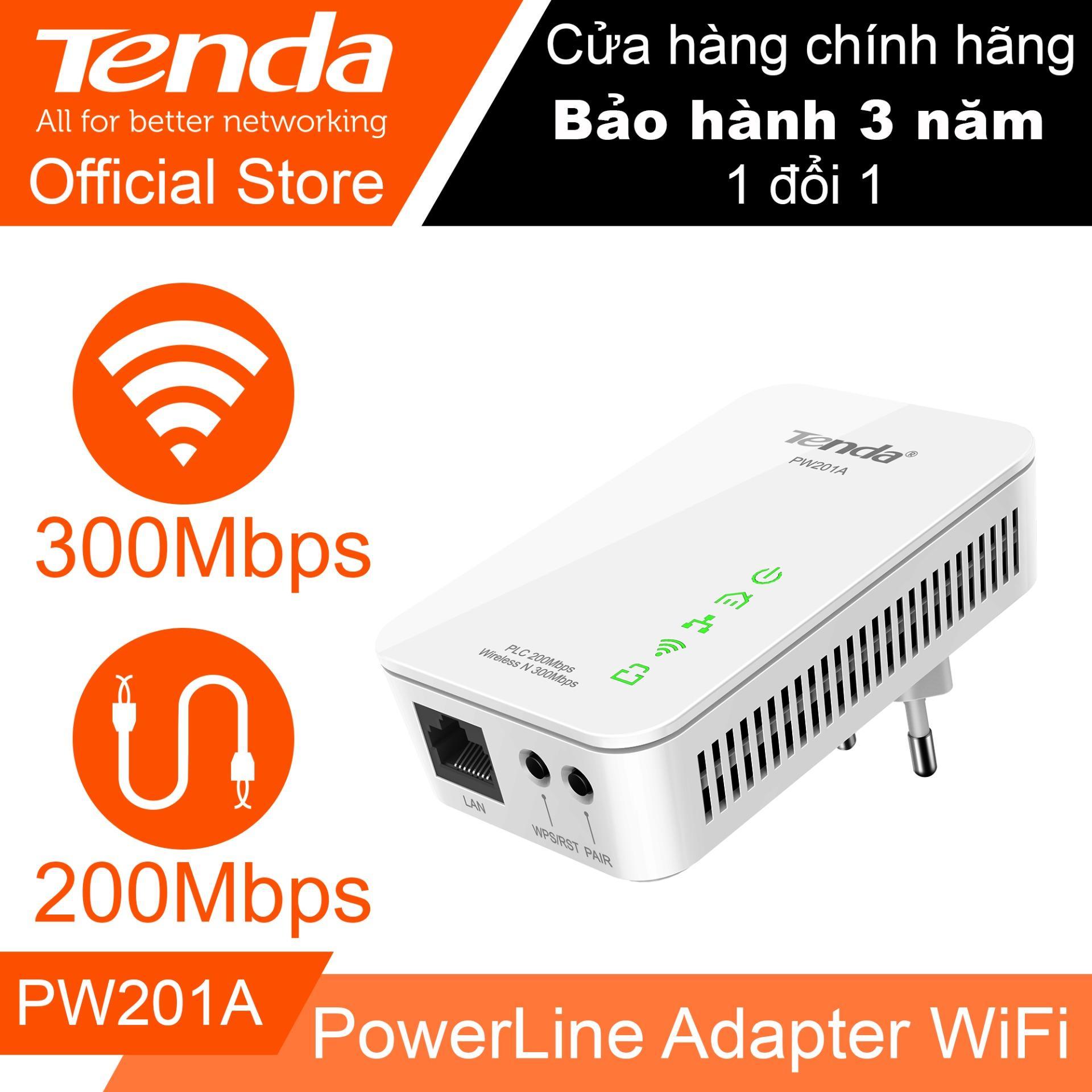 Mua Bộ KIT mở rộng Internet bằng đường điện tốc độ 300Mbps TENDA PW201A – Hãng Phân phối chính thức ở đâu tốt?
