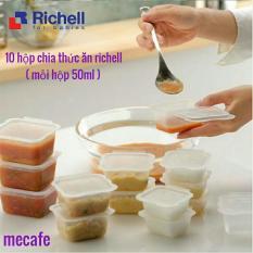 Hộp chia thức ăn cho bé Richell 10 chiếc 50ml