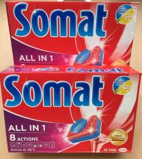 combo 2 hộp viên rửa chén bát ly somat loại 28 viên,dùng cho máy rửa bát tđ finish alio(tích hợp bột muối bóng)
