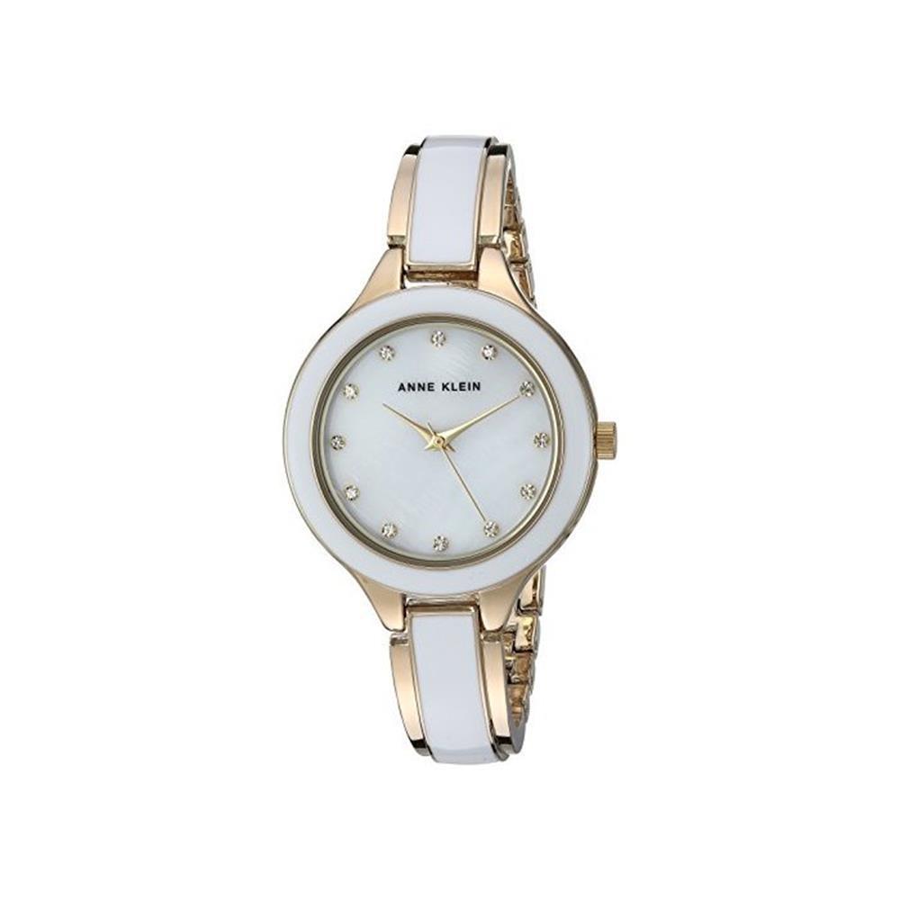 Đồng hồ đeo tay hiệu Anne Klein AK/2934WTGB, Nữ , Ceramic, Trắng Kèm hộp và sổ bảo hành