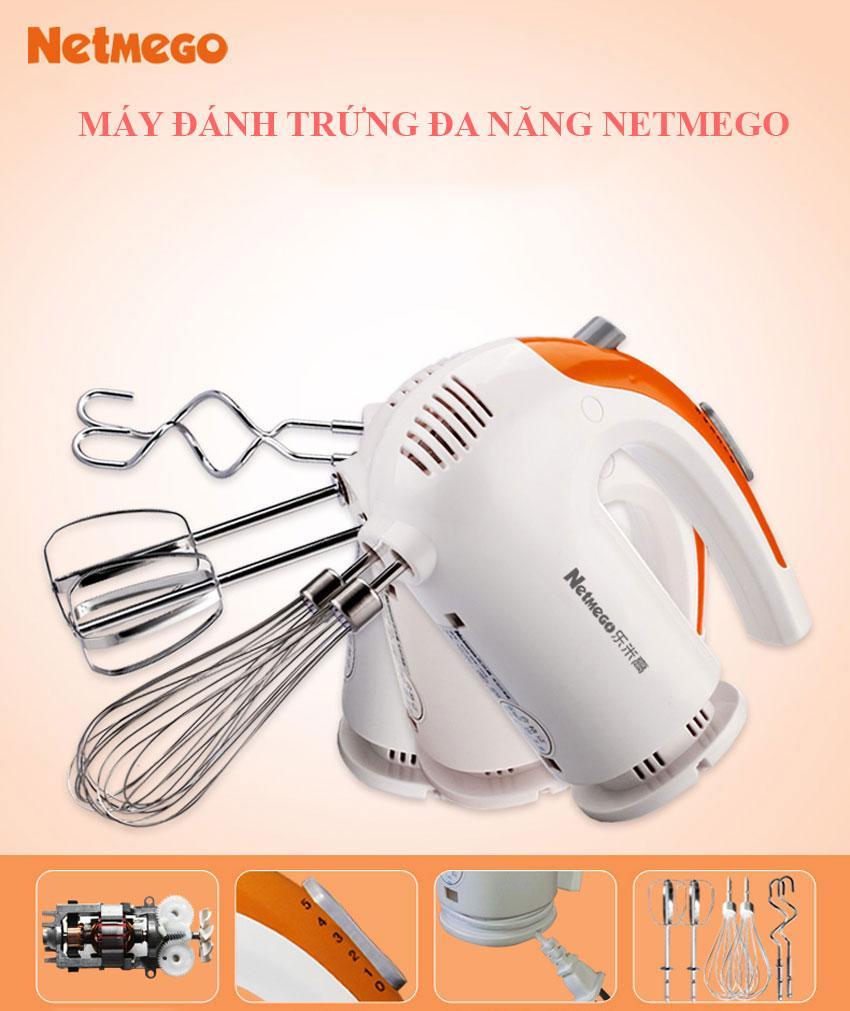 Nơi bán Máy đánh trứng cầm tay đa năng Netmego N38D 300W đánh trứng thật  đều, thật mịn. Barao hành 1 đổi 1 giá rẻ 234.700₫