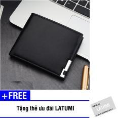 Bóp ví nam ngang da PU Latumi S2561 + Tặng kèm thẻ ưu đãi Latumi