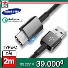 [DÀI 2M] Dây sạc USB Type C hỗ trợ sạc nhanh Qualcomm Quick Charge cho Samsung Galaxy Note 8/ S8/ S8 Plus 9/ 9 Plus và các máy có cổng Type-C – Hàng Samsung Việt Nam