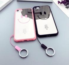 (Tặng Kèm dây) Ốp đôi lưng tráng gương mặt cười iPhone 5 5s 5SE 6 6s 6 Plus 6s Plus 7 8 7 Plus 8 Plus X ốp dẻo dẹp thời trang