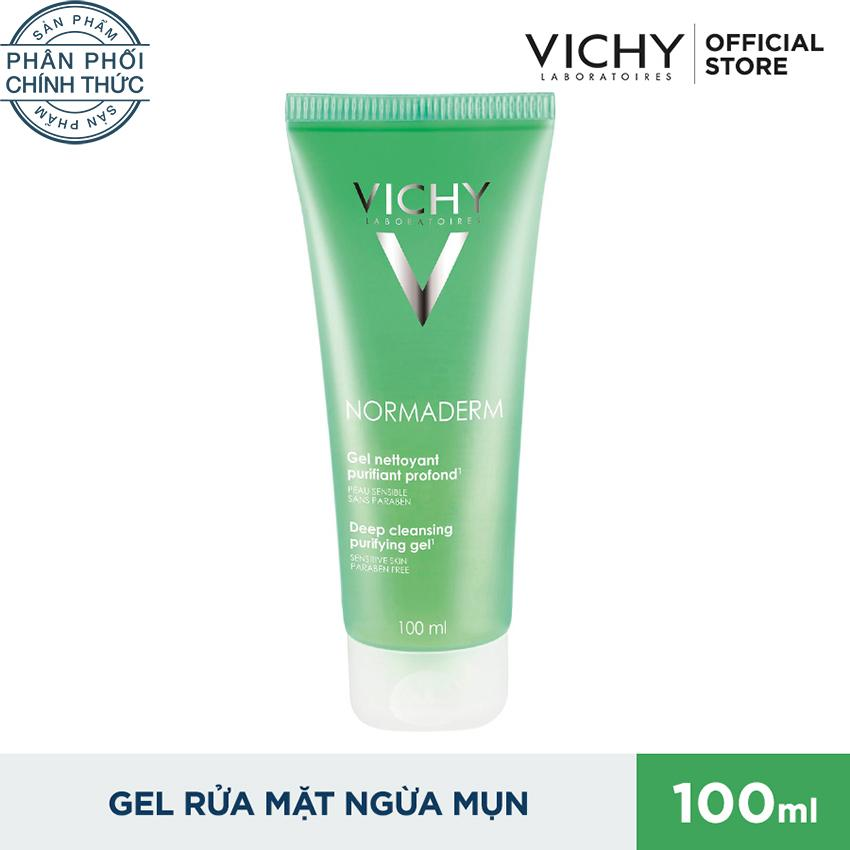 Gel rửa mặt ngăn ngừa mụn Vichy Normaderm Deep Cleansing Purifying 100ml