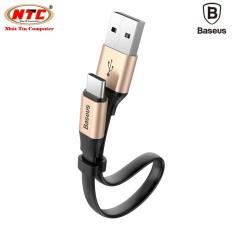 Cáp sạc và truyền dữ liệu tốc độ cao Baseus Nimble USB Type C (23cm, hỗ trợ Quick charge 3.0)