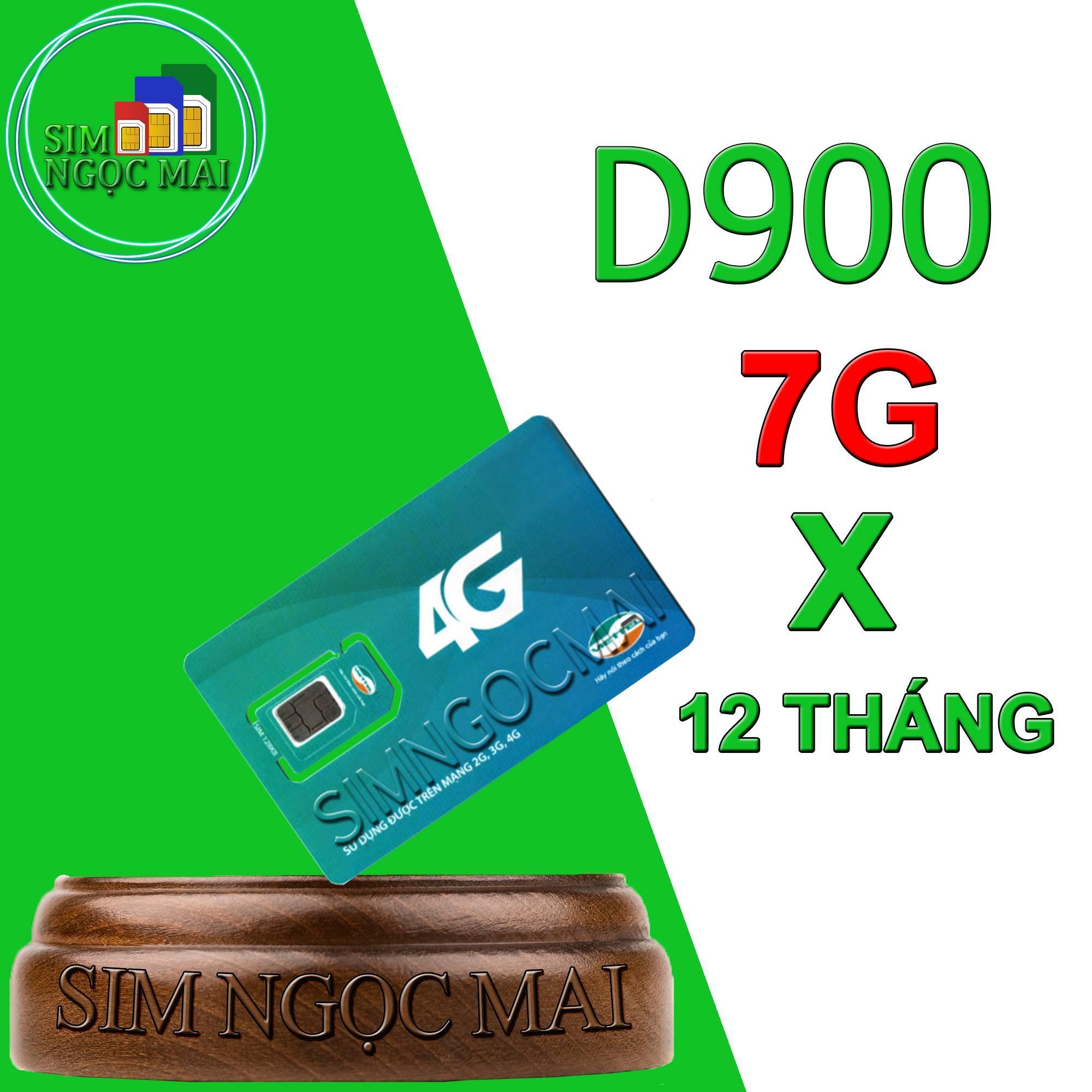 Sim 4G Viettel Trọn Gói 1 Năm Không Nạp Tiền D900 (7GB x 12 Tháng )