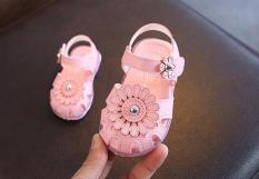 sandal bông hoa bé gái
