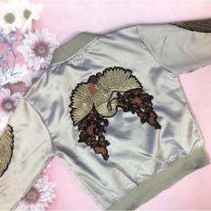 Áo khoác Kim sa họa tiết Hồng Lạc cao cấp siêu sang CC01