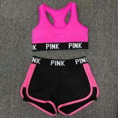 Bộ đồ tập gym nữ pink cao cấp