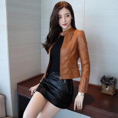 Áo khoác da nữ Hàn Quốc phối túi dọc cá tính cực đẹp – Thời Trang Havis – ADNCVN003