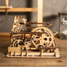 Đồ chơi Lắp ráp gỗ 3D Mô hình Cơ động học Magic Crush – Marble Run WaterWheel Coaster LG501