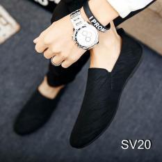 Giày Lười Nam Cao Cấp Phong Cách Hàn Quốc – [Tặng Tất Khử Mùi Cao Cấp] – Màu Đen SV20