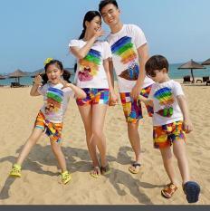 Đồ đi biển – sét gia đình 4 người – kèm hình thật
