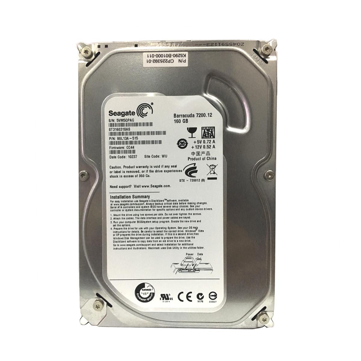 Giá Ổ cứng HDD 160 gb Seagate Tại máy tính Bách Vượng PT