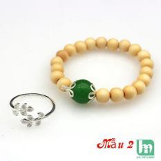 Combo 2 Sản phẩm nhẫn nữ và vòng dâu tằm cho bé BẠC HIỂU MINH nu448