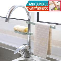 Mua 1 Tặng 1. Bộ kệ đa năng tiện ích gắn vòi nước vòi sen nhà bếp nhà tắm. Tặng dụng cụ chắn văng nước