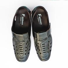 Sunzin.HCM Free từ 99k-Giày da thật – kiểu Giày nam mùa hè – Dép rọ da nam / Dép rọ nam cao cấp chống hôi chân ( RO2145 )-SZ2811001