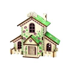 Đồ chơi lắp ráp gỗ 3D Mô hình Forest Cottage Laser