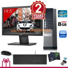 Máy tính Dell Optiplex 990 ( Corei5 / 8g / 500g ), Màn Hình Dell 20inch. Tặng bàn phím chuột Dell , usb wifi. Hàng Nhập Khẩu BC 990
