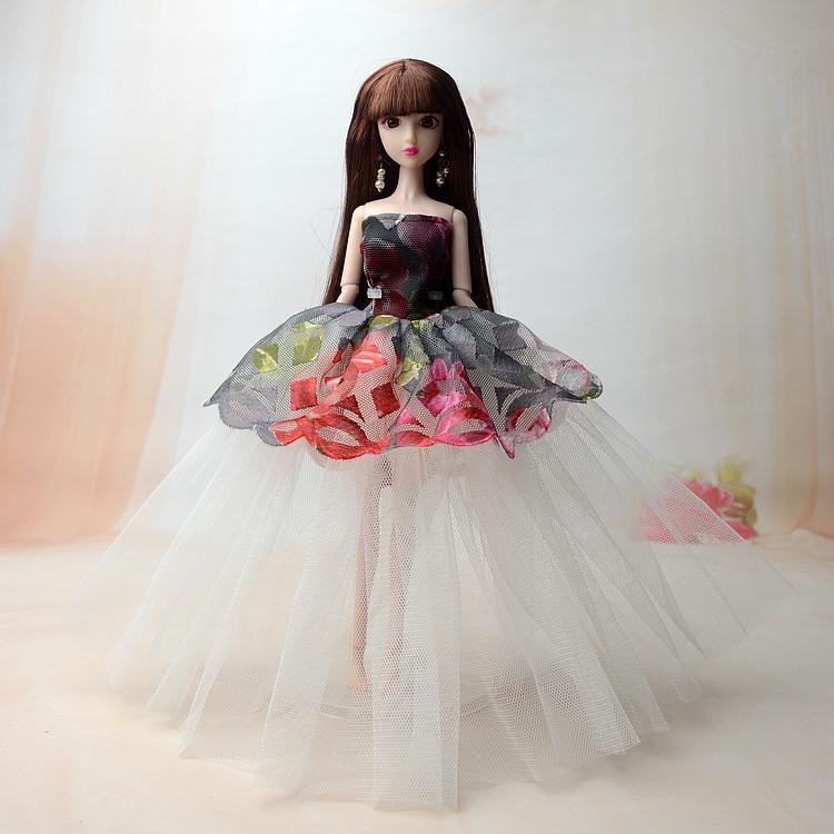 Búp Bê 12 Khớp 3D Váy Tầng Xinh Xắn + Tặng Kèm 3 Váy Ngắn