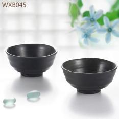 BỘ 5 Chén Cơm Màu Đen Kiểu Hàn Quốc Nướng BBQ 11.5CM WXB045