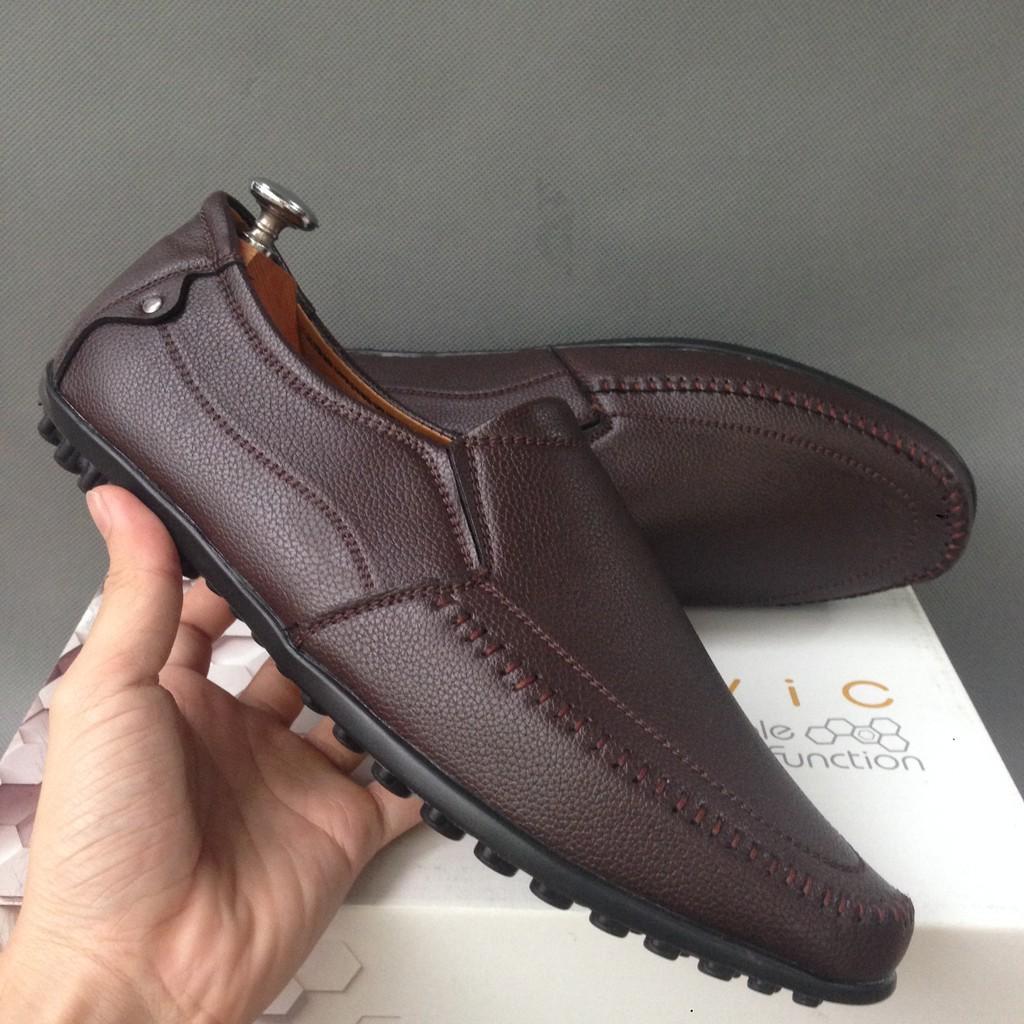 Giày mọi nam da bán chạy [TẶNG 1 QUE ĐÓN GÓT] Chỉ 3 ngày sale giá gốc rẻ bền đẹp...