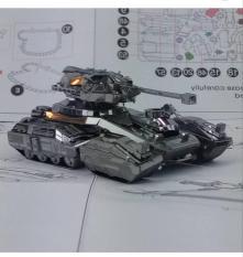 Mô hình kim loại lắp ghép lắp ráp trang trí trưng bày 3D Xe Tăng Chiến Đấu bằng thép không gỉ (Tặng dụng cụ Lắp Ghép khi mua 2 bộ bất kỳ)