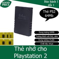 Thẻ nhớ cho máy chơi game Playstation 2, PS2 – dung lượng 64Mb