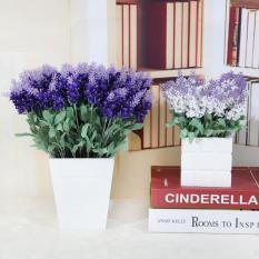 Hoa giả – nhánh hoa lavender nhân tạo độc đáo – Hoa lụa trang trí phòng khách – hoa oải hương làm đạo cụ chụp ảnh