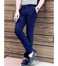 Quần tây nam hàng xuất dư siêu đẹp (Xanh Coban), quần âu nam chống xù dáng body Hàn Quốc