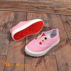 Giày trẻ em giày lười bé gái chống trượt màu hồng GLG043
