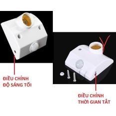 Đui đèn cảm ứng chuyển động 2 nút chỉnh DMEX