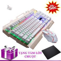 Combo bàn phím và chuột có đèn LED giả cơ G700 tặng tấm lót chuột