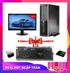 Bộ máy tính để bàn Hp 8200 Chip G620, Ram 4gb, ổ cứng 500gb, Màn hình HP 18.5 inch + Tặng bàn phím, chuột Hàng Nhập Khẩu – Bảo hành 24 tháng