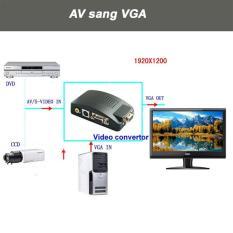 Bộ chuyển tín hiệu AV, Svideo sang VGA (đen)