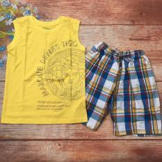 Bộ áo thun quần caro vải kate từ 28kg đến 40kg – BT507