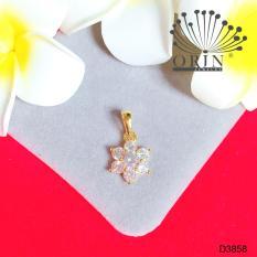 Mặt dây chuyền hoa cao cấp đính đá Orin D3858